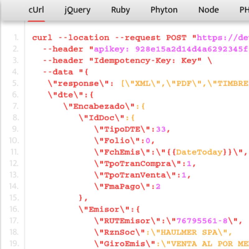 ¡Intégrate a la API de OpenFactura!
