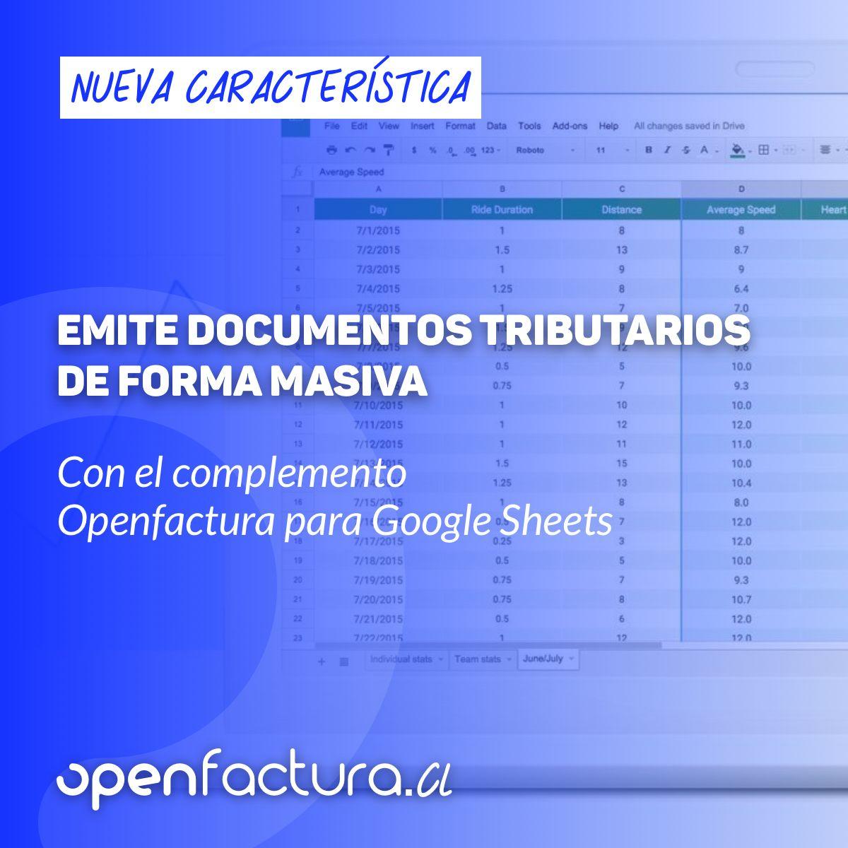 Complemento Openfactura para Google Sheets ya disponible